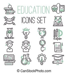 Education icons set vector.