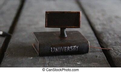 Education idea, Book - computer.