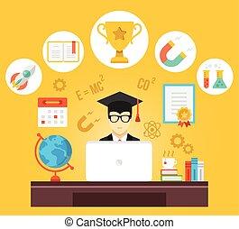 Education illustration - Creative vector illustration with...