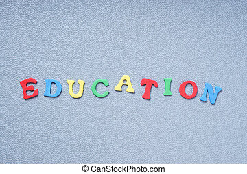 education in colorful letters