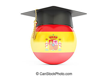 education in Spain concept, 3D rendering