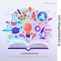 Education Infographic concept banner.