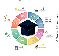 education infographic template design