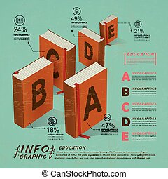education infographic with books element