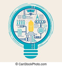education infographic with creative bulb element