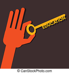 Education key in hand