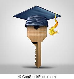 Education Key Symbol