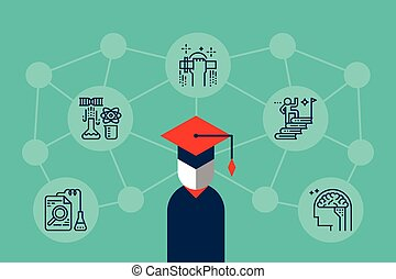 Education Knowledge Illustration - Education knowledge...