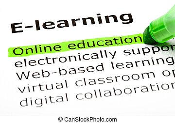 education, ligne
