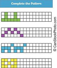 Education logic game for preschool kids Vector Illustration