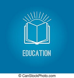 Education logo with open book