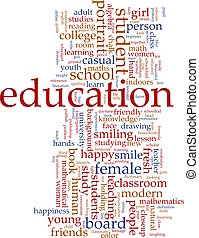education, mot, nuage