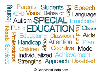 education, mot, spécial, nuage