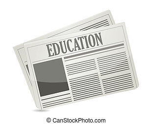 education newsletter illustration design over a white...