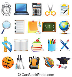 Education Object - easy to edit vector illustration of ...