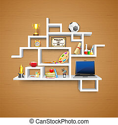 Education object on Display - illustration of education...