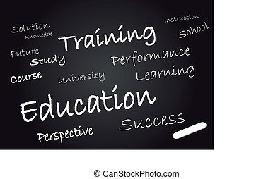 Education on a chalkboard