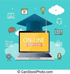 Education Online Concept. Vector - Education Online Concept...