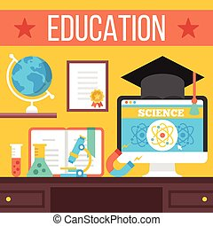 Education, online learning concept