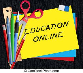 Education Online Means Internet Learning 3d Illustration