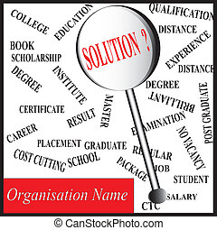 education or career related solution in lens