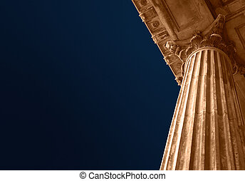 Education or court columns - Classic Greek style university...