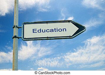 education, panneaux signalisations