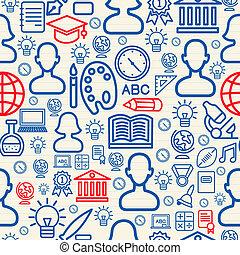 Education pattern illustration