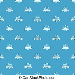Education pattern vector seamless blue