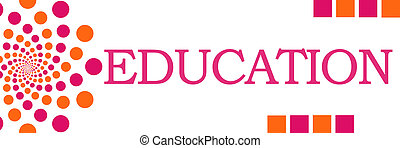 Education Pink Orange Dots