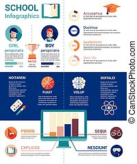 Education poster flat design tempalte