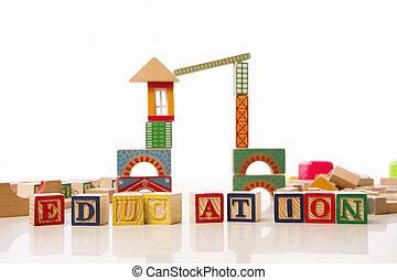 education, pour, pré école, concept