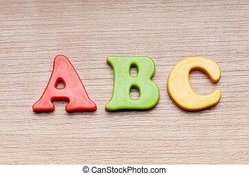 education première, concept, à, lettres