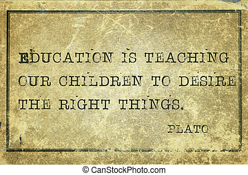 education print - education is teaching our children -...