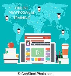 education, professionnel, education, ligne