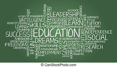 Education related wor cloud - Education related tag cloud...