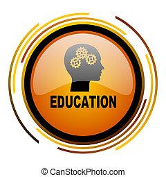 education round design orange glossy web icon