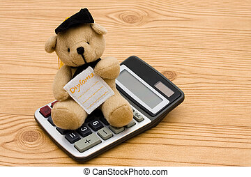 Education Savings - A bear wearing a graduation cap with a...