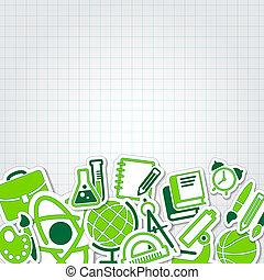 education school icon vector collection set