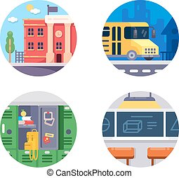 Education school icons
