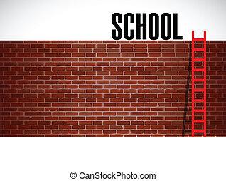 education school ladder illustration design