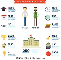 Education School Template Design Infographic