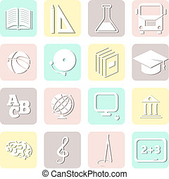 education seamless, school pattern, vector