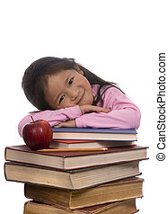 Education Series (Leaning on books)