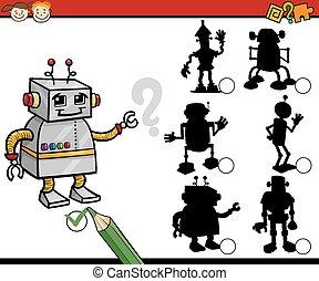 education shadows game cartoon