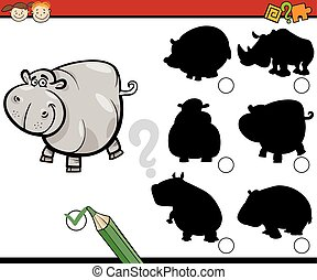 education shadows task cartoon - Cartoon Illustration of ...