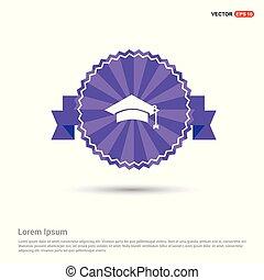 Education simple Icon - Purple Ribbon banner