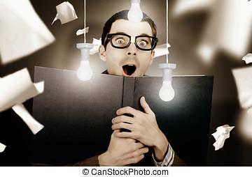 Education smart man learning bright idea