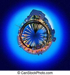 Education sphere - Spherized image of an educational...