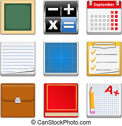 Education Square Icons